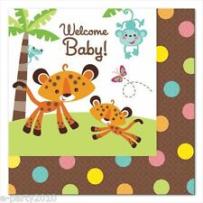 FISHER PRICE Jungle Animals SMALL NAPKINS (16) ~ Baby Shower Party Supplies Cake