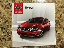 2016 Nissan Altima 16-page Original Sales Brochure