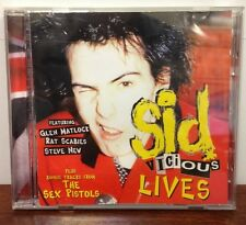 SID VICIOUS LIVES CD Live Dressed To Kill UK Punk Rock BONUS TRACKS Sex Pistols