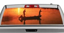 Truck Rear Window Decal Graphic [Fishing / Sunset Dream] 20x65in DC80002