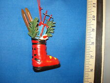 Skiing Ornament Ski Boot with Skiis 85219 539