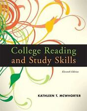 College Reading and Study Skills by Kathleen T. McWhorter (2009, Paperback)