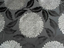 Sanderson Curtain/Upholstery Fabric 'Ceres Velvet' 3.5 METRES Clay/Charcoal