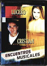 "CRISTIAN / LUCERO   ""Encuentros Musicales"" - NEW SEALED DVD * 10 Video Exitos"