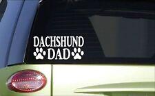 Dachshund Dad *H811* 8 inch Sticker decal weiner dog doxie
