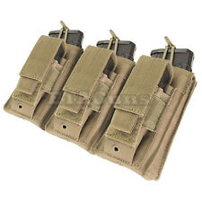 CONDOR TAN MA55 MOLLE Triple 5.56 .223 Pistol KANGAROO Magazine Pouch Holster