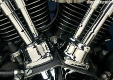 NEW CHROME LIFTER TAPPET BLOCK COVERS FOR HARLEY EVOLUTION BIG TWIN 84-99