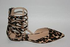 J CREW New Leopard Bow Gladiator Flats 6 #e4479 $198 Womens Shoes