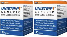 UniStrip 100 Test Strips for Use with Onetouch® Ultra® Meters Exp: 10/2017