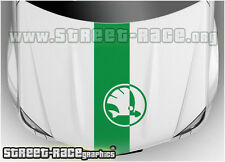 BS1609 Skoda bonnet racing stripes graphics stickers decals Fabia Octavia