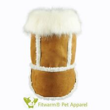 "Fitwarm 14""Chest Fleece Suede Pet Coat for Small Dog Clothes Puppy Hooded Jacket"