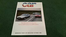 Oct 1988 ALFA ROMEO 164 vs ROVER 800 VITESSE BMW 525i ROAD TEST REPRINT BROCHURE