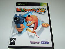 WORMS 3D by TEAM 17 -XBOX ORIGINAL(PAL) COMPLETE (BLACK OUTER CASE)