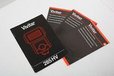 Vivitar 285 HV Electronic Flash 285HV InstructionManual+English Only+Original