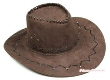 Teen Adult Size Brown Western Cowboy Hat Cattleman Unisex Costume for Party