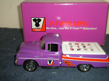 DIE CAST 1957 DODGE TRUCK  BANK V TWIN TEDD CYCLE CHRISTMAS 11TH EDITION
