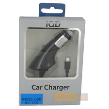 CHARGEUR VOITURE Allume-cigare 2,1A Noir compatible SAMSUNG Galaxy S4 Advance
