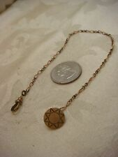 WATCH FOB GOLD FILLED STAR CHASED ETCHED MFB CO POCKET VINTAGE GF