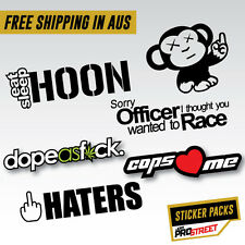 HOON STICKER PACK JDM CAR STICKER Drift Turbo Euro Fast Vinyl #JDMPSSPACK1