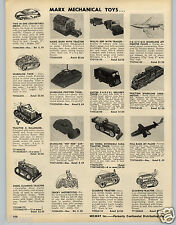 1953 PAPER AD Marx Mechanical Toy Willys Jeep UPS Truck Motorcycle Tractor Train