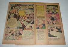 circa 1949 six page cartoon story ~ HISTORY OF BOXING ~ Roman times to Tunney