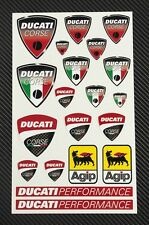 DUCATI CORSE aufkleber set decal 16x26 cm. blatt 20 stickers 749 999 Multistrada