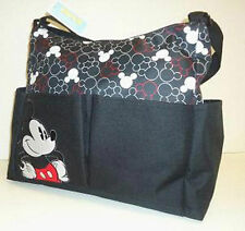 Diaper Bag Tote Large Disney Mickey Mouse Black White Heads NWT