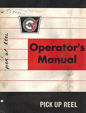 COCKSHUTT COMBINE PICKUP REEL OPERATOR'S  MANUAL