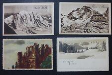 LOTTO 4 CARTOLINE - AUGURALI - BUON ANNO SULLE MONTAGNE - 1926-38