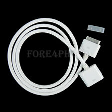 New 30 PIN 1M Dock Extender Extension Cable Cord For IPhone 4S 4 IPad IPod White