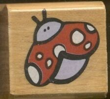 LADYBUG BEETLE Wings DESIGN SHAPE SMALL Tag NEW Wood Mount Craft RUBBER STAMP