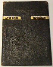 NICE RARE CLASS OF 1946 WEST POINT LEATHER GRADUATION WEEK CEREMONY PROGRAM BOOK