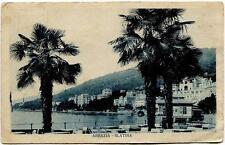 1928 Abbazia - Slatina panorama annullo Fiume - FP B/N VG