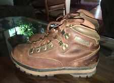Womans Timberland Euro Hiker hiking boots size 8 brown leather comfortable shoes