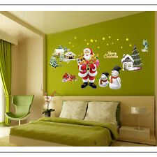 Santa Claus Christmas Wall Stickers Decal Removable Art Window Decor Mural DIY