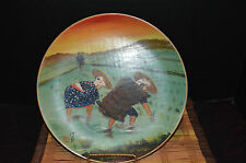 """Antique Chinese Porcelain Hand Painted Women Working In Field 10 3/8"""""""