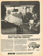 Publicité Advertising 1966  DKW  F 12