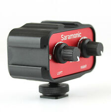 "Saramonic SR-AX100 2 Channel 3.5mm (1/8"") Mixer Audio Adaptor Interface for DSLR"