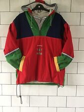 OVERHEAD VINTAGE RETRO 80'S BRIGHT CRAZY BOLD WINDBREAKER SKI JACKET COAT #114