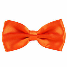 New Mens Boys Pre Tied Wedding Party Fancy Plain Satin Necktie Bow ties Gift