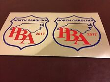 2 North Carolina PBA Vehicle Decals, NC Highway Patrol, Local Police, Sheriff