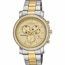 Citizen Eco-Drive Women's FB1412-52P AML Swarvoski Crystal Accent Two-Tone Watch