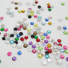 New Hot 400pcs 6mm Charm Facets Resin Crystal beads Rhinestone FlatBack Mix#3