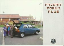 SKODA FORUM PLUS SALES BROCHURE MID 90's
