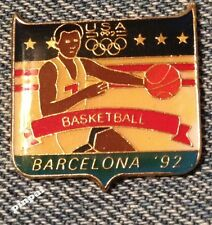 Basketball Olympic Pin ~ 1992 Barcelona Summer Games ~ USA Team~Fundraising