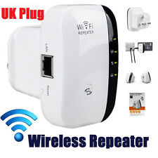 300Mbps Wireless 802.11 Repeater Wifi Range Booster Extender Bridge AP UK Plug