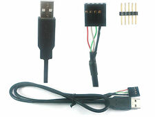 USB A plugs to internal 4/5 pin header cable / adaptor (male or female)