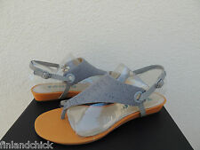 TSUBO GEORGEA ICE STINGRAY LEATHER T- STRAP WEDGE SANDALS, US 8/ EUR 39 ~NIB
