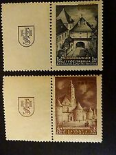 CROATIA , NDH,   1941 PROVISIONAL ISSUE,  WITH GOLDEN OVRPRINT,  MNH