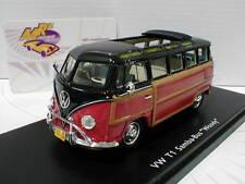 """Schuco PRO.R43 08943 # VW T1 Samba-Bus """" Woody"""" Baujahr 1958 in schwarz-rot 1:43"""